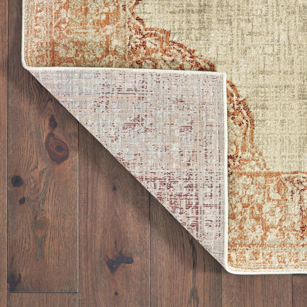 8'x11' Ivory and Pink Medallion Area Rug - 388726. Picture 3