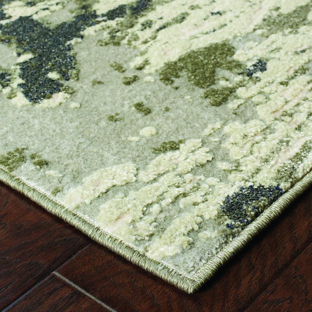 7'x10' Gray and Ivory Abstract Area Rug - 388797. Picture 2