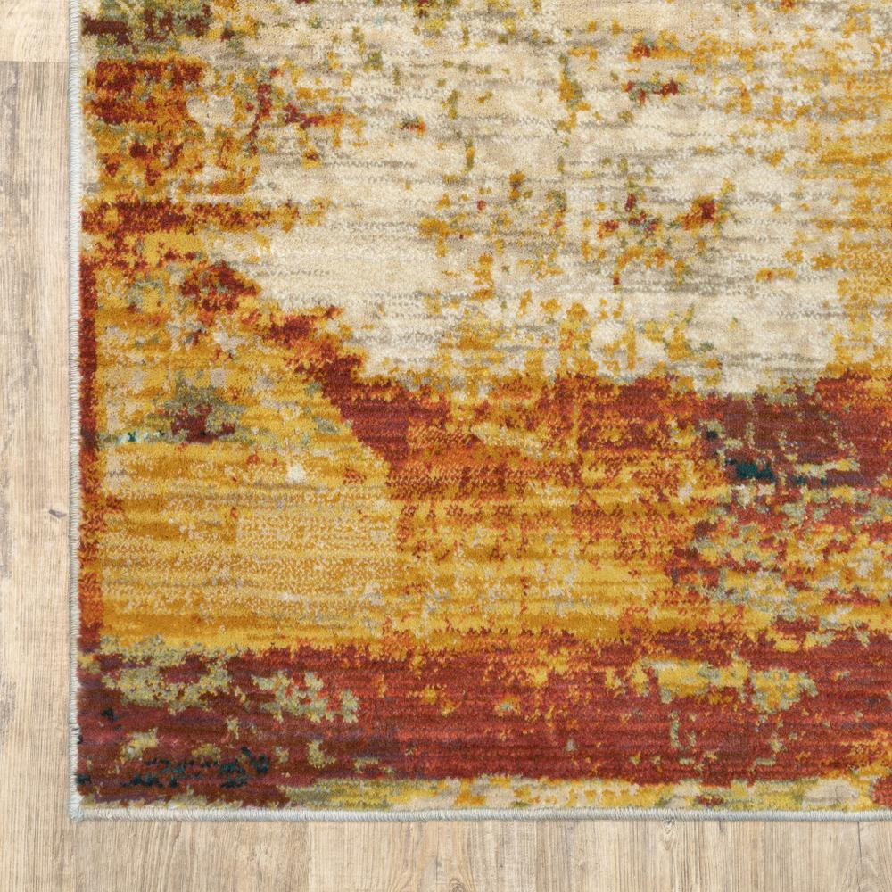 4'x6' Blue and Red Distressed Area Rug - 388808. Picture 2