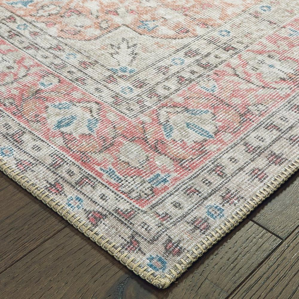 8'x10' Ivory and Pink Oriental Area Rug - 388837. Picture 2