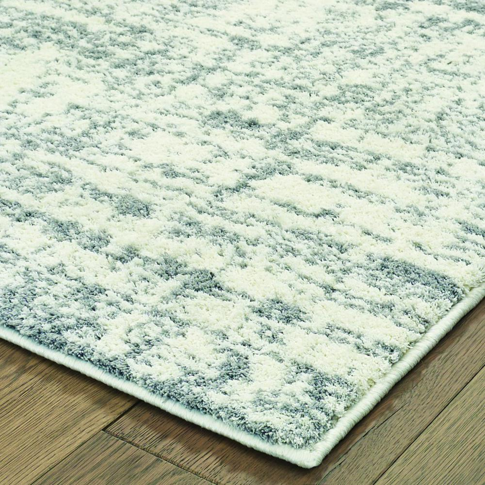 8'x11' Ivory and Gray Abstract Strokes Area Rug - 388854. Picture 2