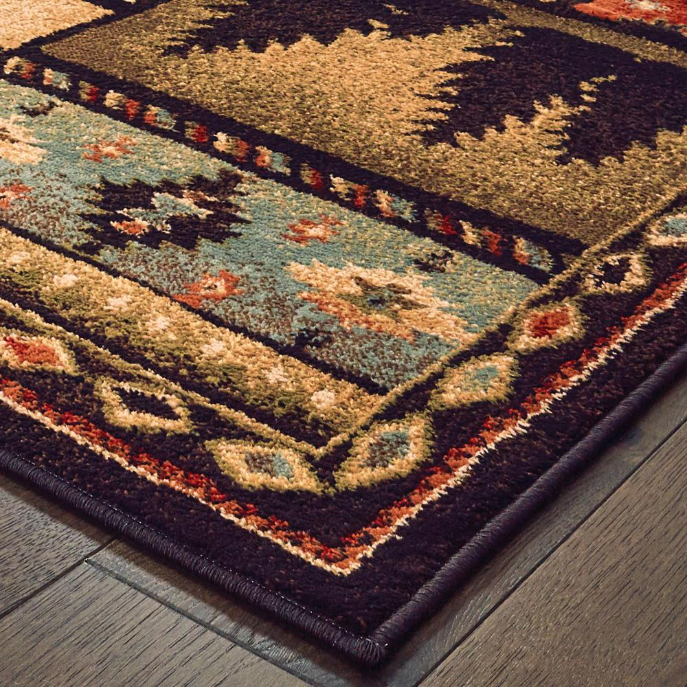 8'x10' Black and Brown Nature Lodge Area Rug - 388866. Picture 2