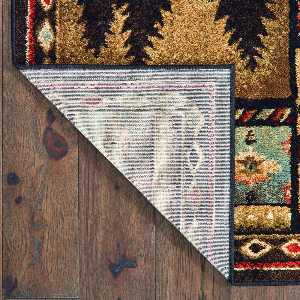 8'x10' Black and Brown Nature Lodge Area Rug - 388866. Picture 3