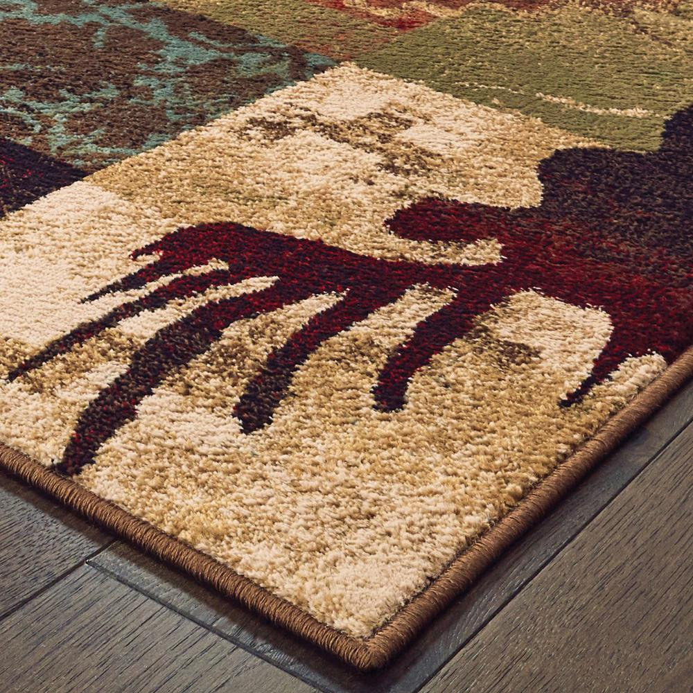 5'x7' Rustic Brown Animal Lodge Area Rug - 388876. Picture 2