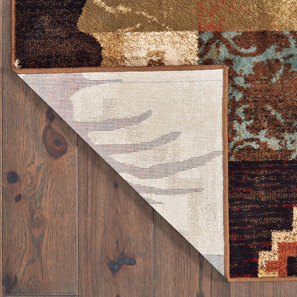 5'x7' Rustic Brown Animal Lodge Area Rug - 388876. Picture 3