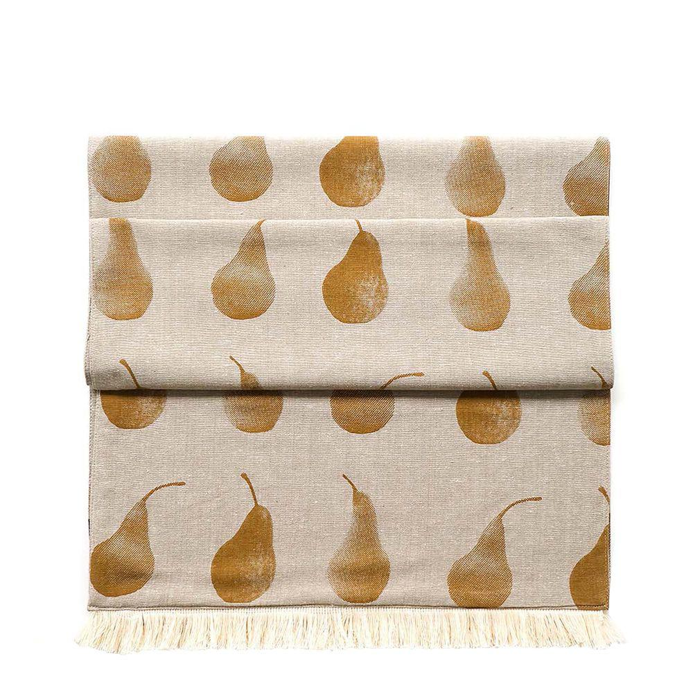 Set of Eight Pale Yellow Pear Pattern Placemats - 388985. Picture 2