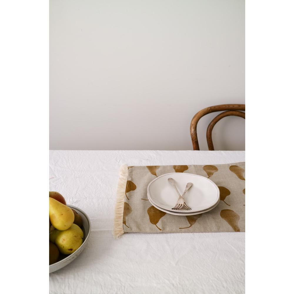 Set of Eight Pale Yellow Pear Pattern Placemats - 388985. Picture 3