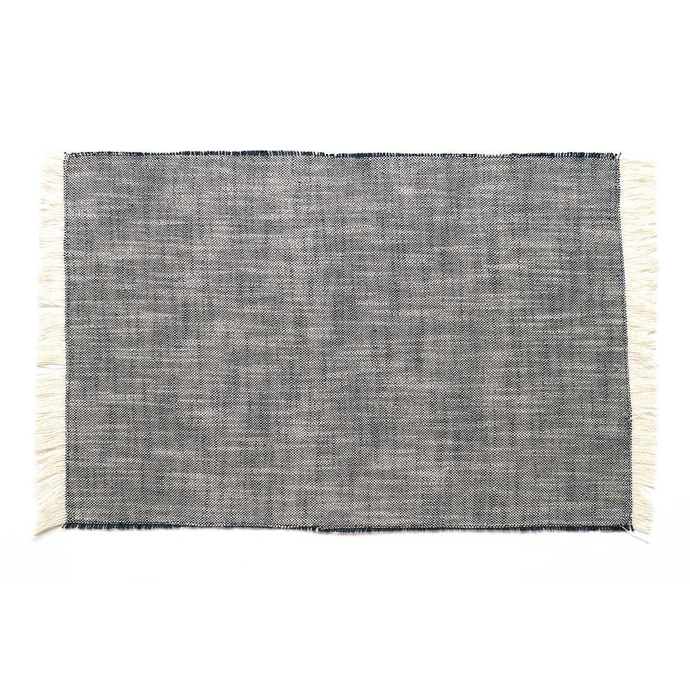 Set of Eight Dark Blue Woven Textured Placemats - 388988. Picture 1