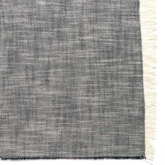 Set of Eight Dark Blue Woven Textured Placemats - 388988. Picture 3