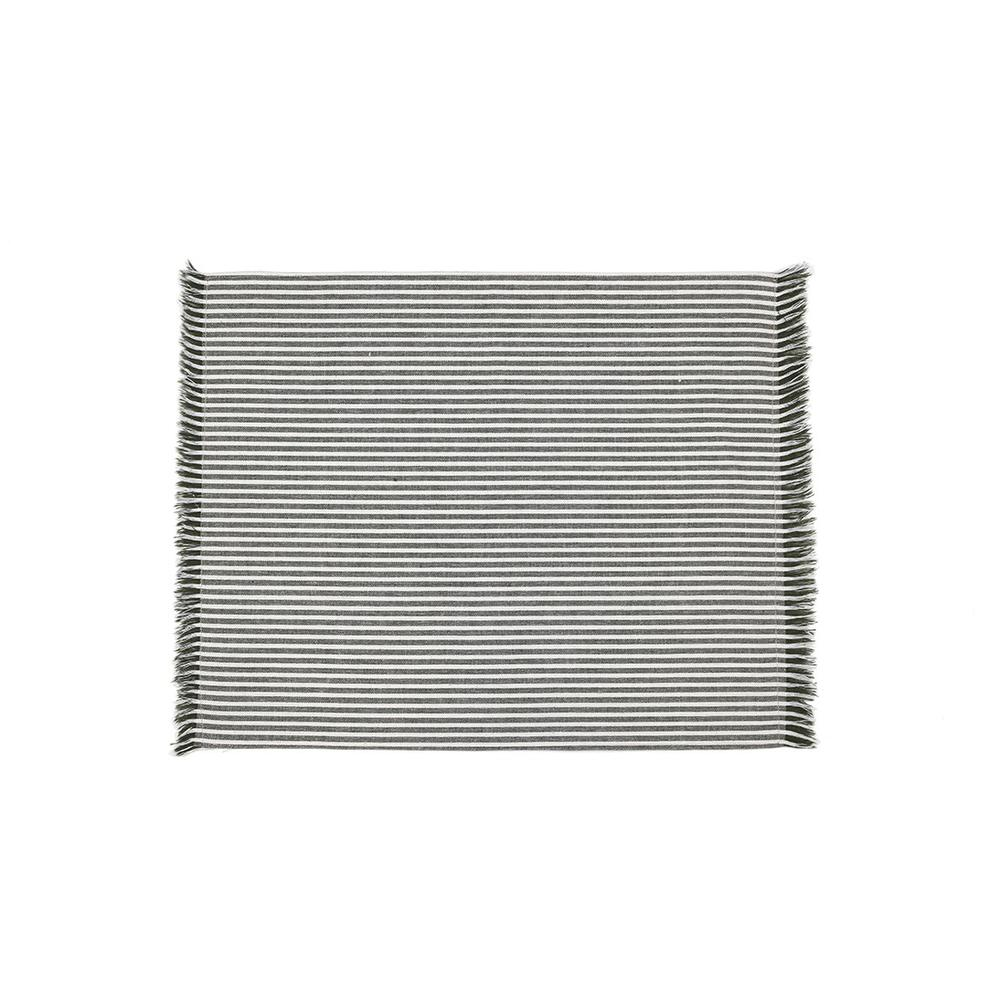 Set of EightDull  Green Striped Placemats - 388991. Picture 1