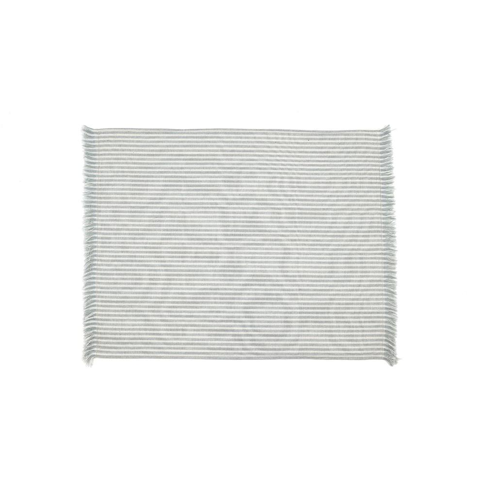 Set of Eight Periwinkle Striped Placemats - 388992. Picture 1