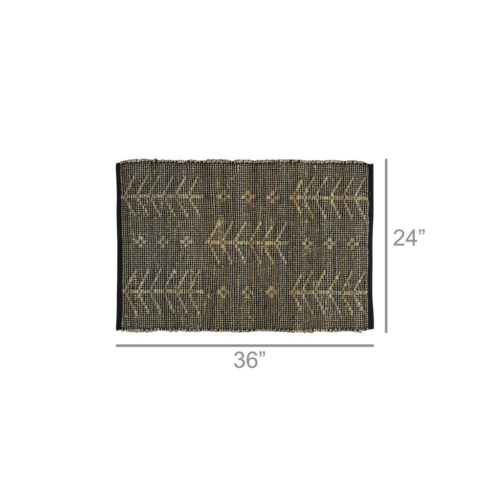 2' X 3' Black Distressed Tribal Scatter Rug - 389101. Picture 2