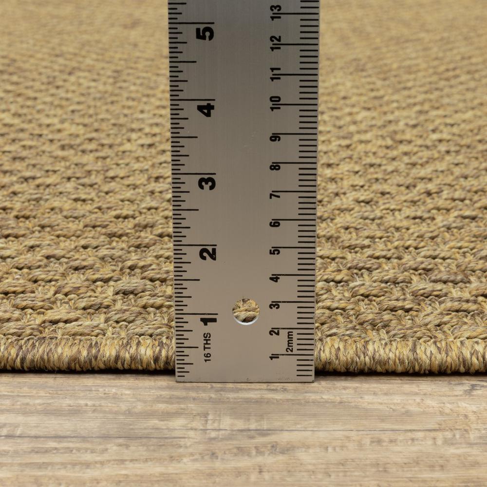 8' Round Solid Tan Indoor Outdoor Area Rug - 389471. Picture 3