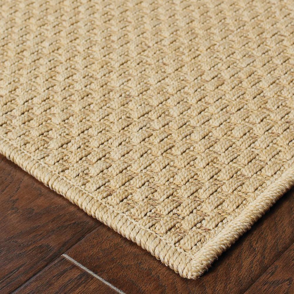 7'x10' Solid Sand Beige Indoor Outdoor Area Rug - 389477. Picture 6