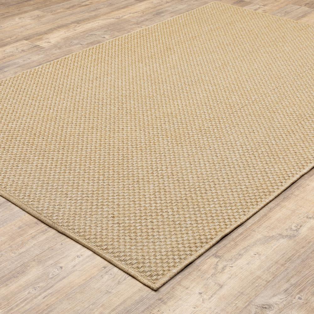 8'x11' Solid Sand Beige Indoor Outdoor Area Rug - 389478. Picture 4