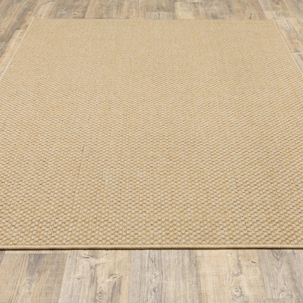 8'x11' Solid Sand Beige Indoor Outdoor Area Rug - 389478. Picture 5