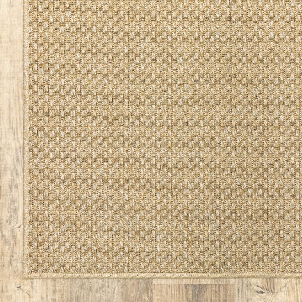 8'x11' Solid Sand Beige Indoor Outdoor Area Rug - 389478. Picture 7
