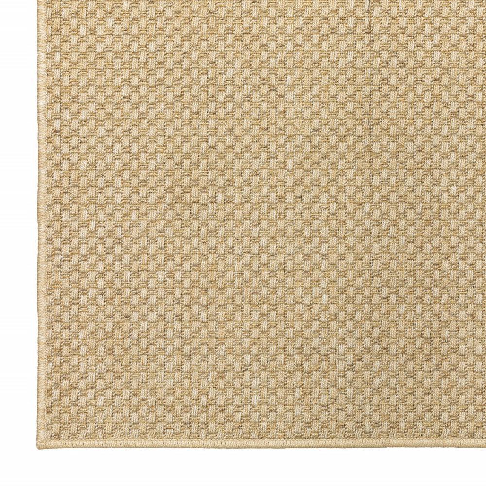8'x11' Solid Sand Beige Indoor Outdoor Area Rug - 389478. Picture 8