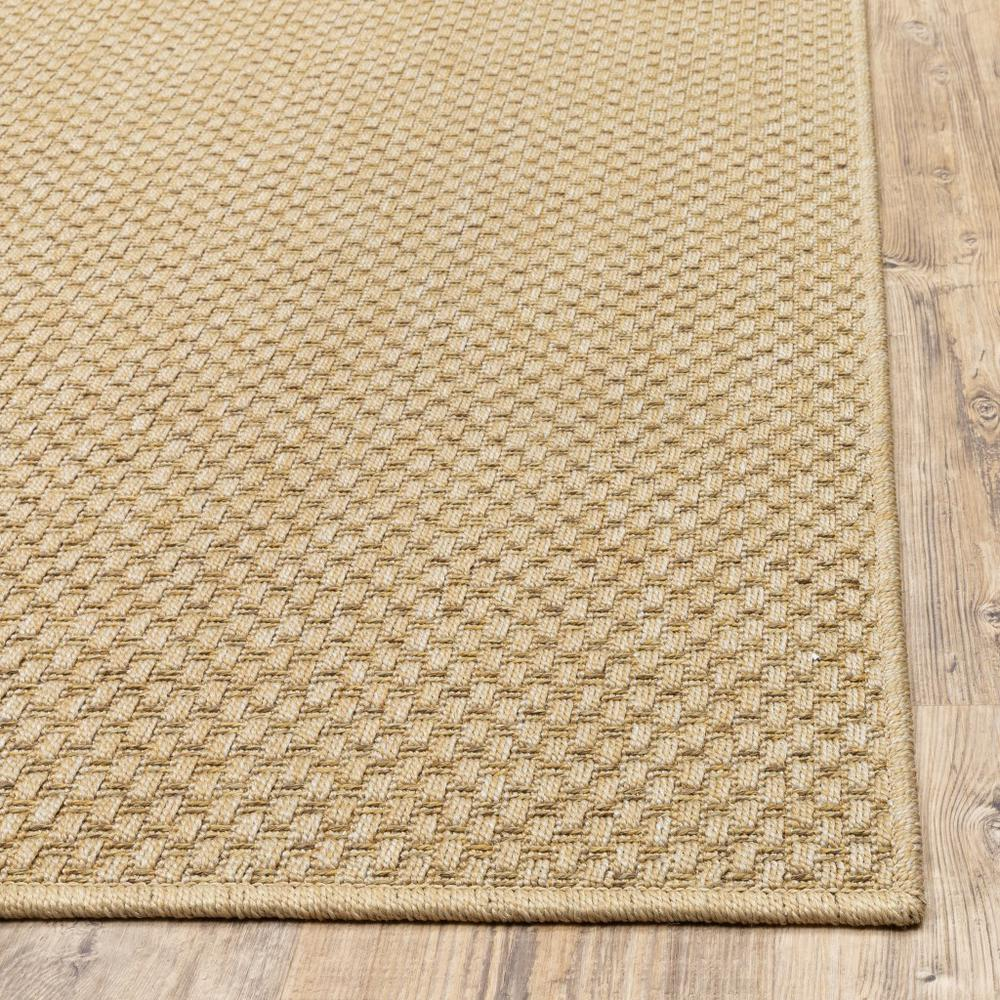 8'x11' Solid Sand Beige Indoor Outdoor Area Rug - 389478. Picture 9