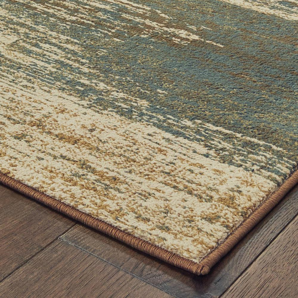 8'x10' Blue and Brown Distressed Area Rug - 389512. Picture 5