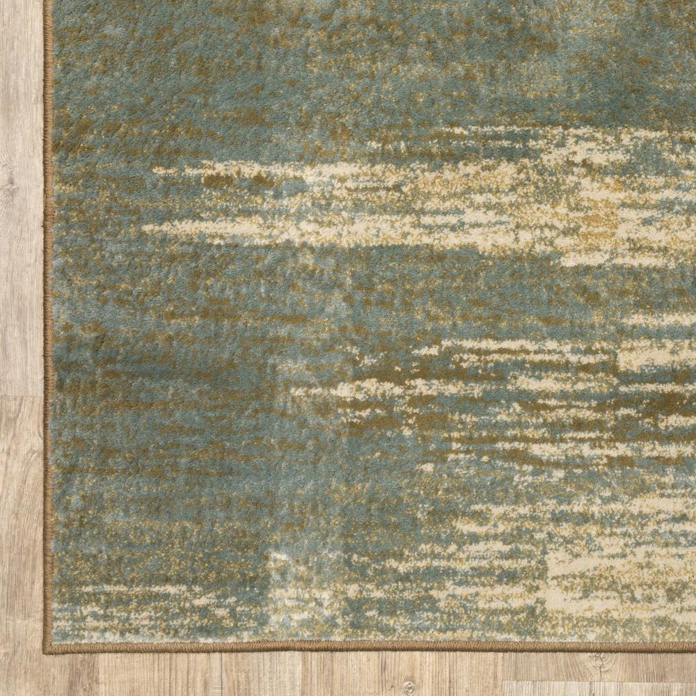 8'x10' Blue and Brown Distressed Area Rug - 389512. Picture 6