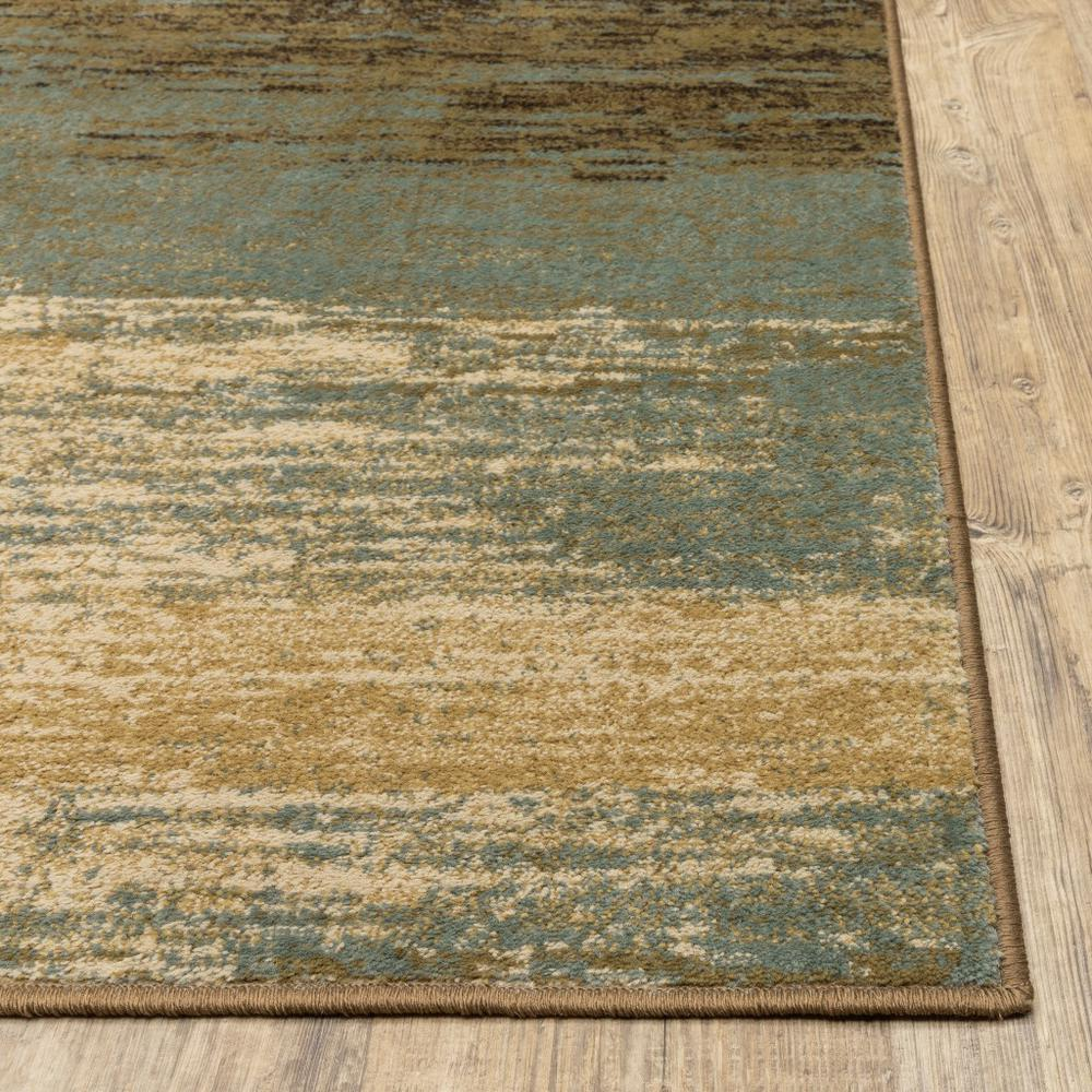8'x10' Blue and Brown Distressed Area Rug - 389512. Picture 7