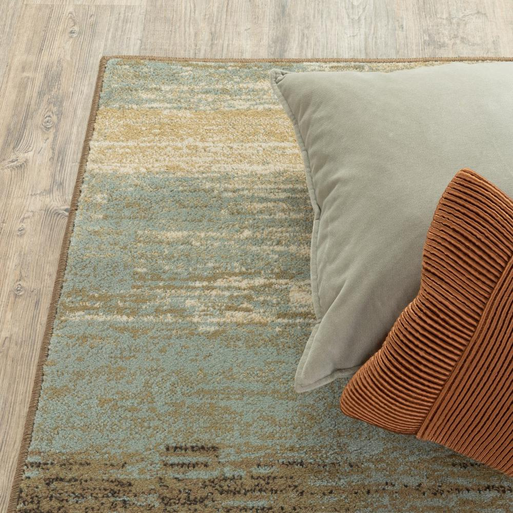 8'x10' Blue and Brown Distressed Area Rug - 389512. Picture 8