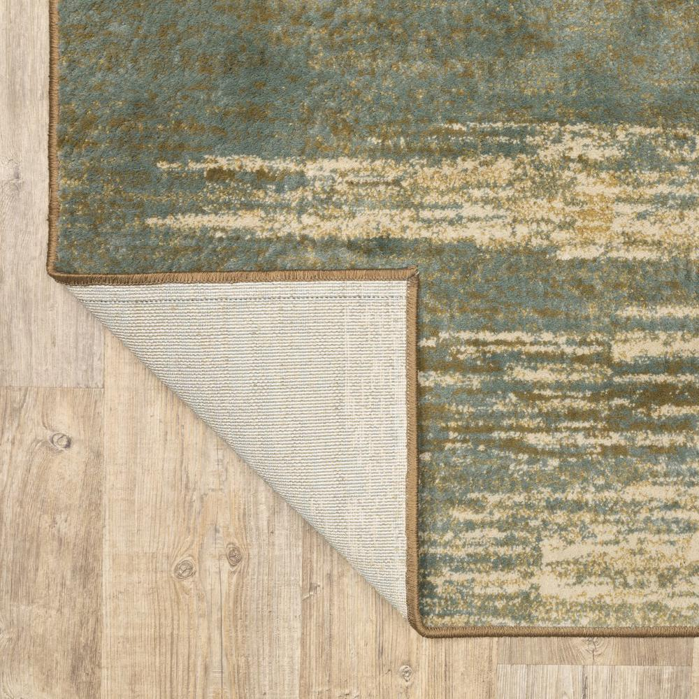 8'x10' Blue and Brown Distressed Area Rug - 389512. Picture 9