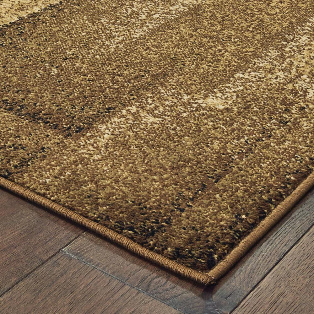 3'x5' Brown and Beige Distressed Blocks Area Rug - 389513. Picture 5