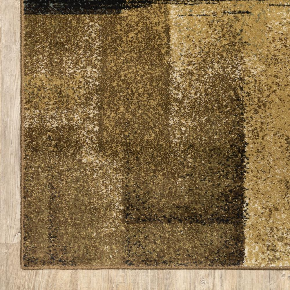 3'x5' Brown and Beige Distressed Blocks Area Rug - 389513. Picture 6