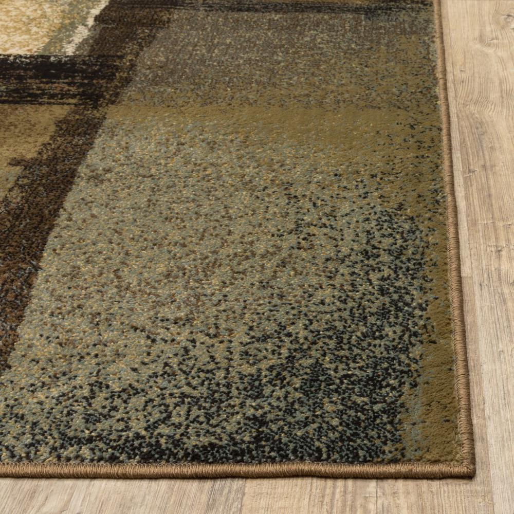 3'x5' Brown and Beige Distressed Blocks Area Rug - 389513. Picture 7