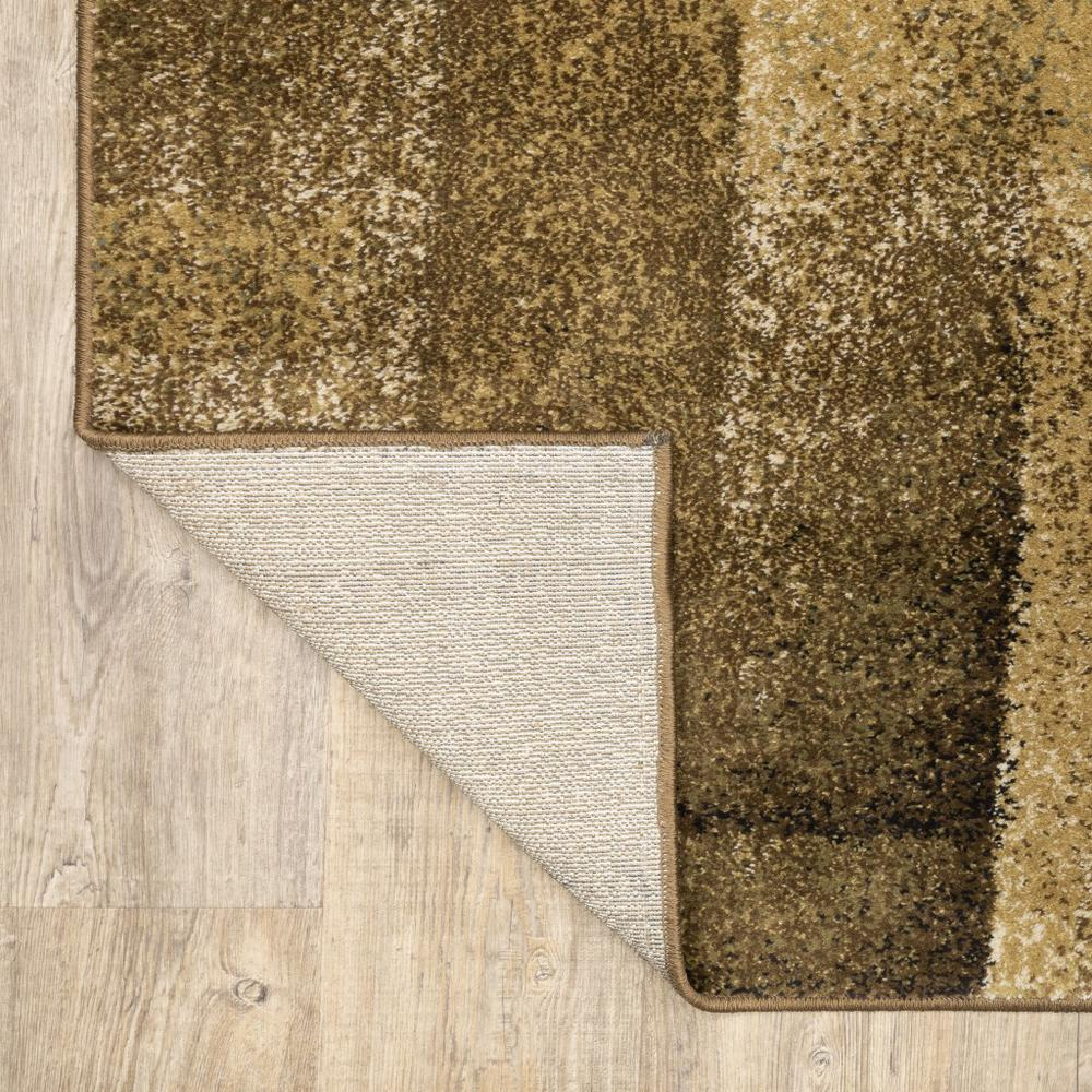 3'x5' Brown and Beige Distressed Blocks Area Rug - 389513. Picture 8