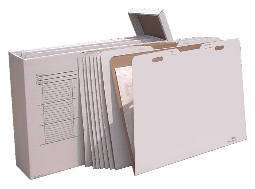 vfile43 w/8 vfolder43, vertical flat file system filing box, stores paper file box