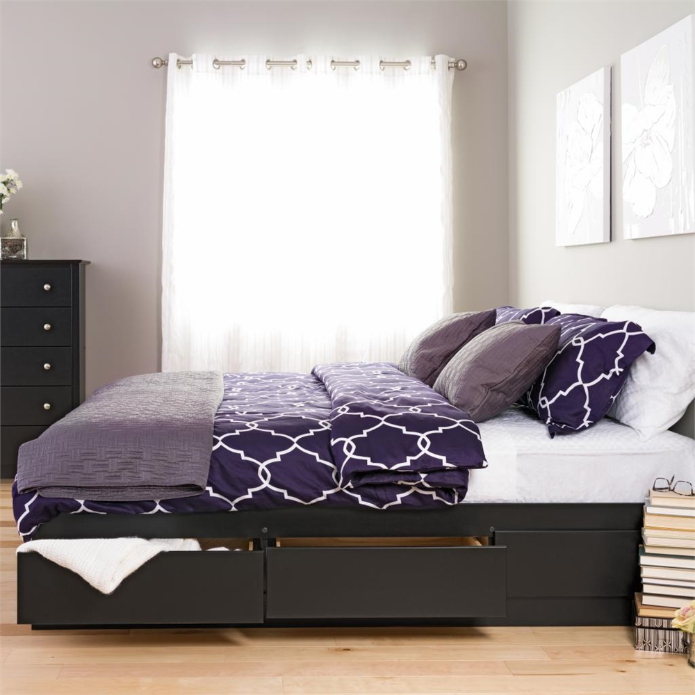 Platform Storage Bed With 6 Drawers