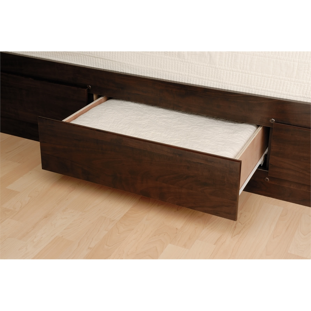Espresso Tall Queen Captain S Platform Storage Bed With 12