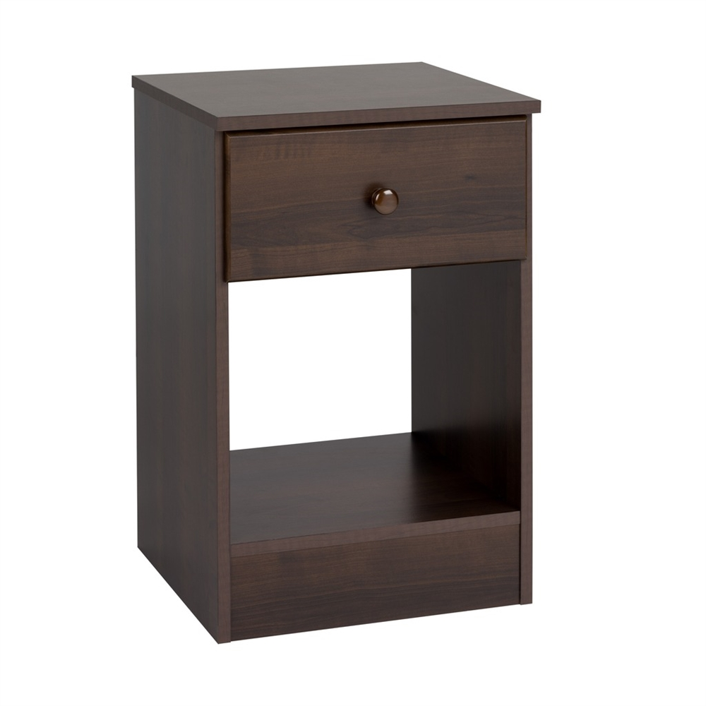 Astrid Tall 1 Drawer Night Stand Black