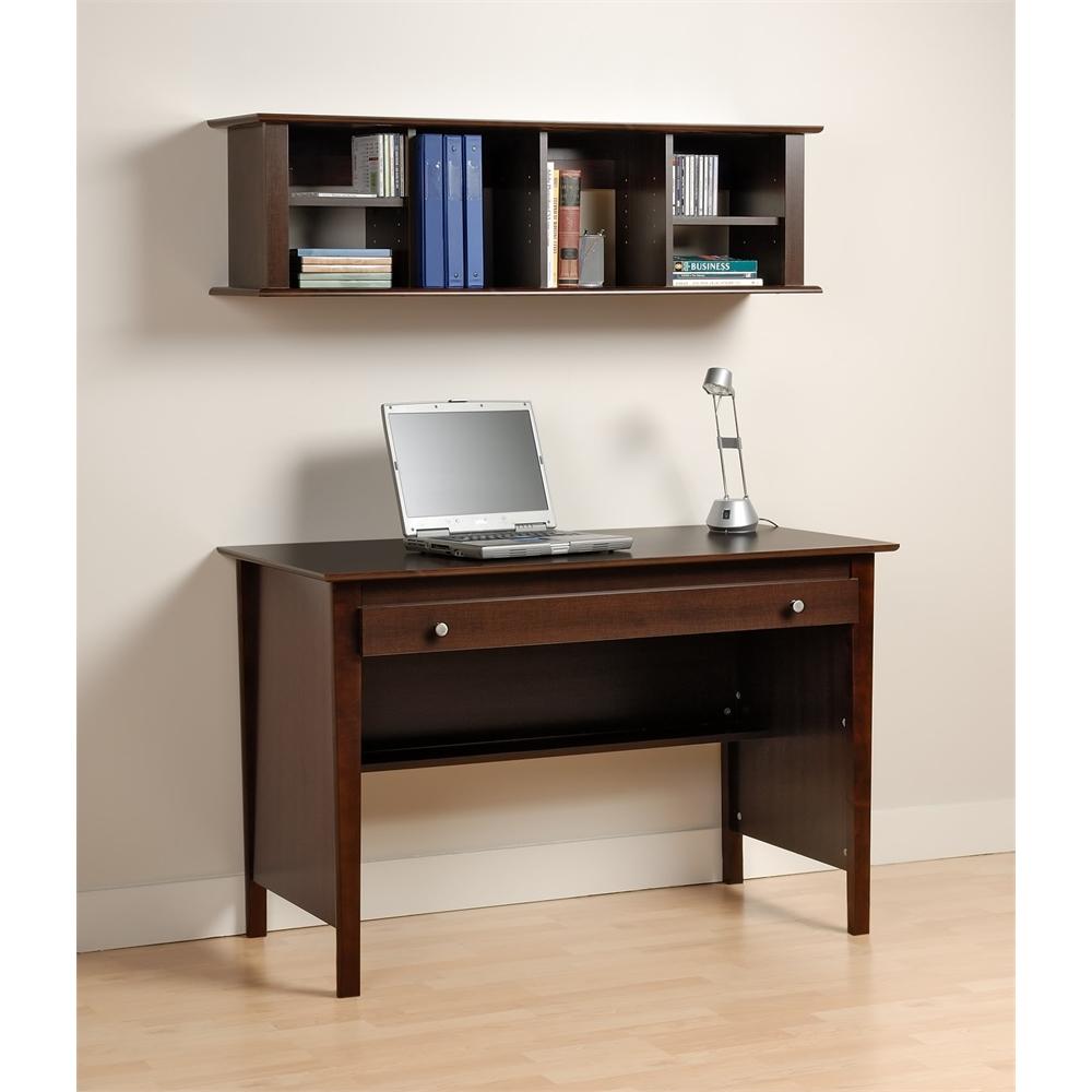 Espresso Wall Mounted Desk Hutch