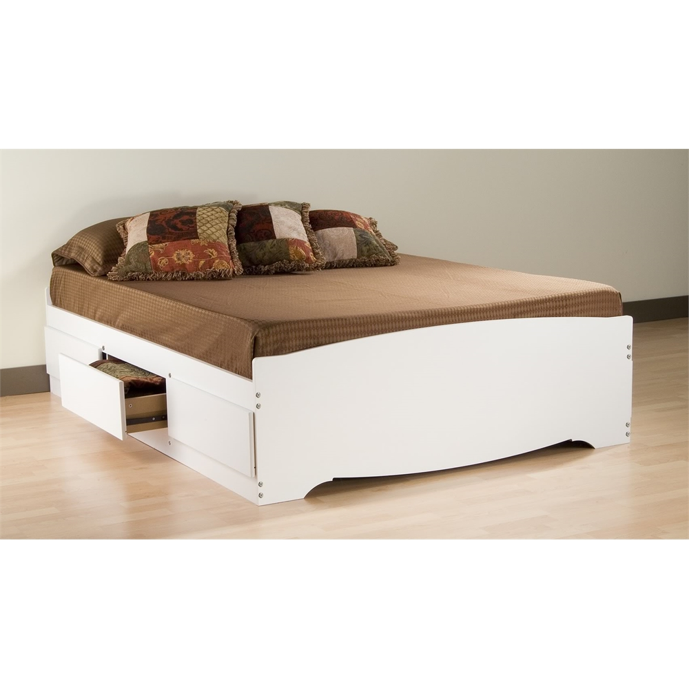 Prepac White Queen Mate S Platform Storage Bed With 6 Drawers