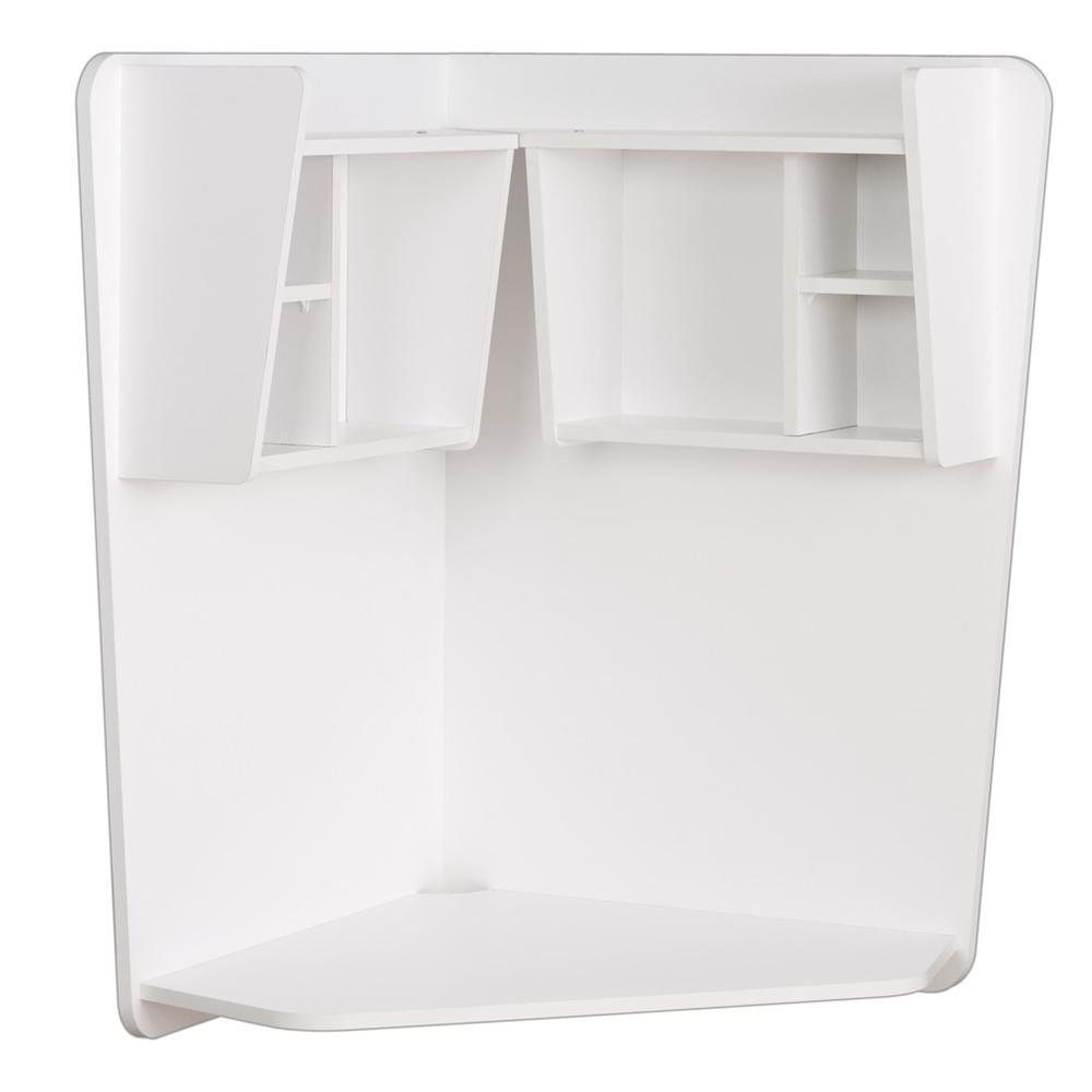 Floating Corner Desk, White