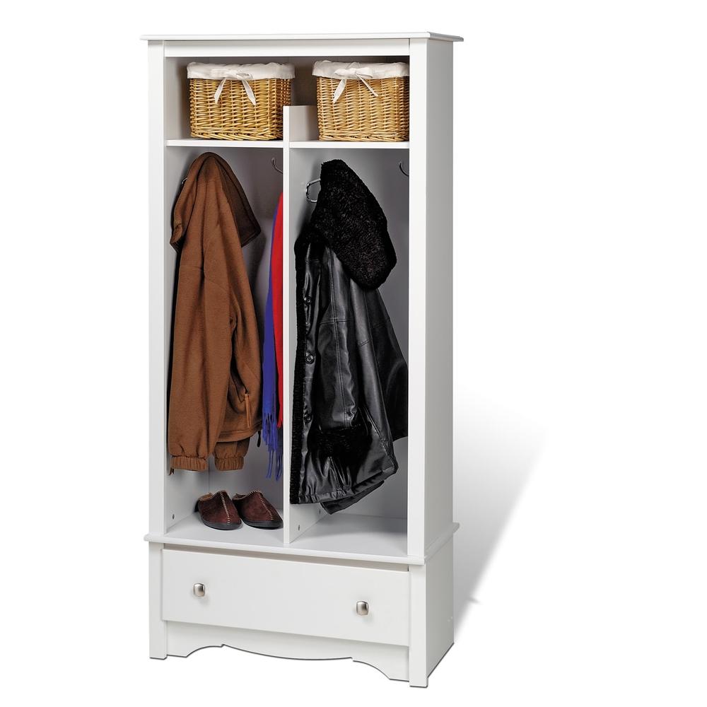 Mudroom Organizers Storage : White entryway organizer
