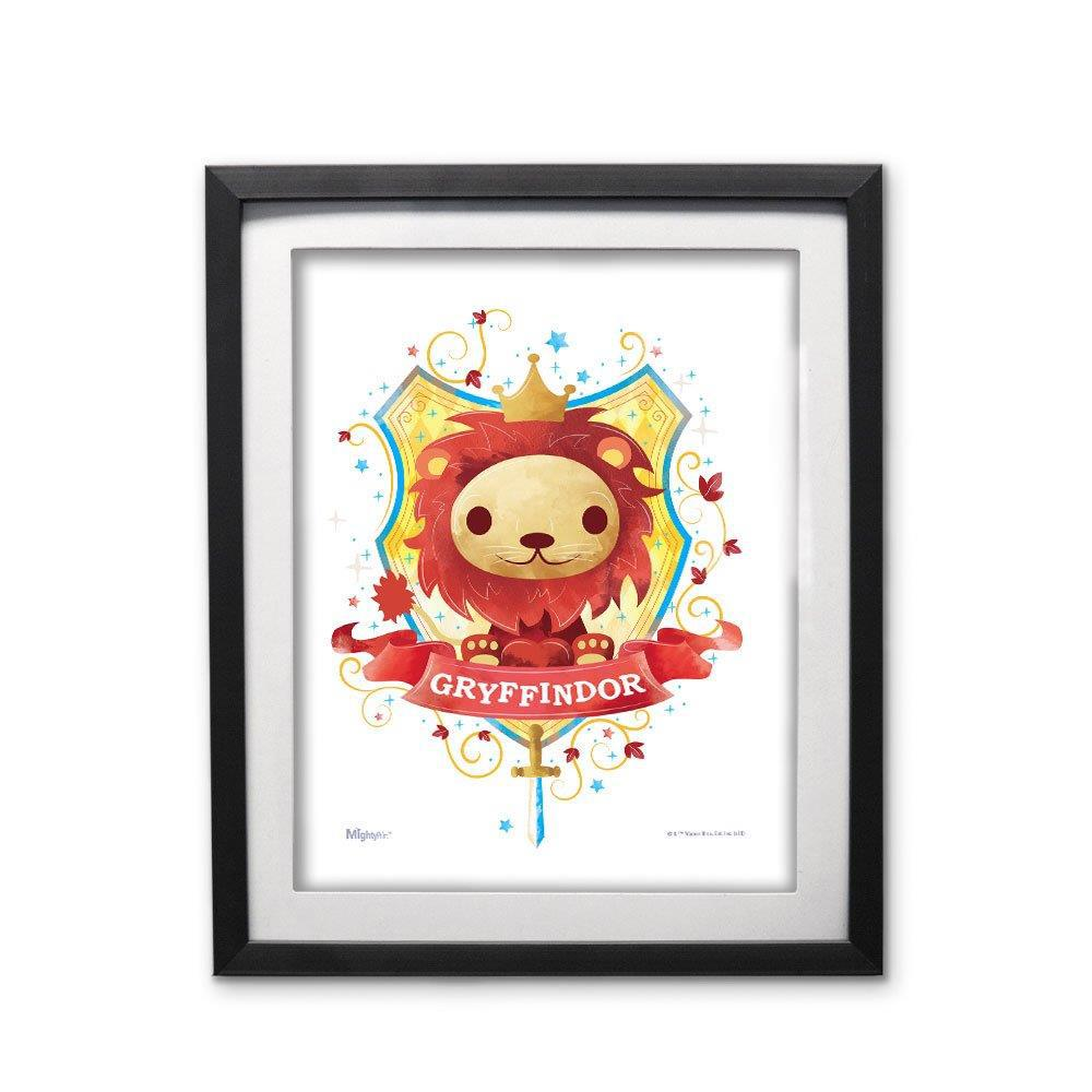 Harry Potter (Gryffindor Watercolor) MightyPrint™ Wall Art Modern Frame. Picture 1
