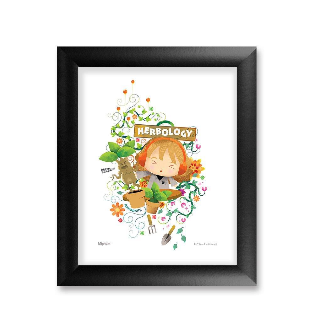 Harry Potter (Herbology Watercolor) MightyPrint™ Wall Art Classic Frame. Picture 1
