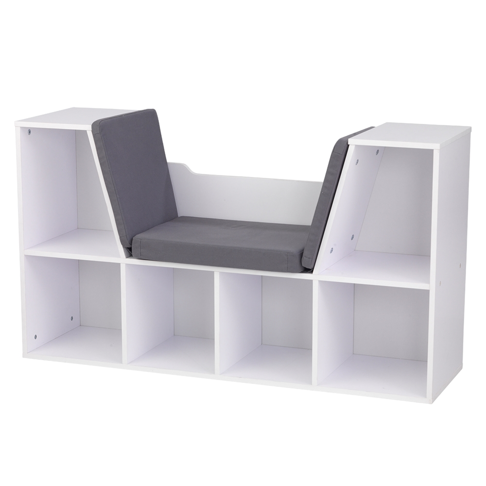 Bookcase With Reading Nook White