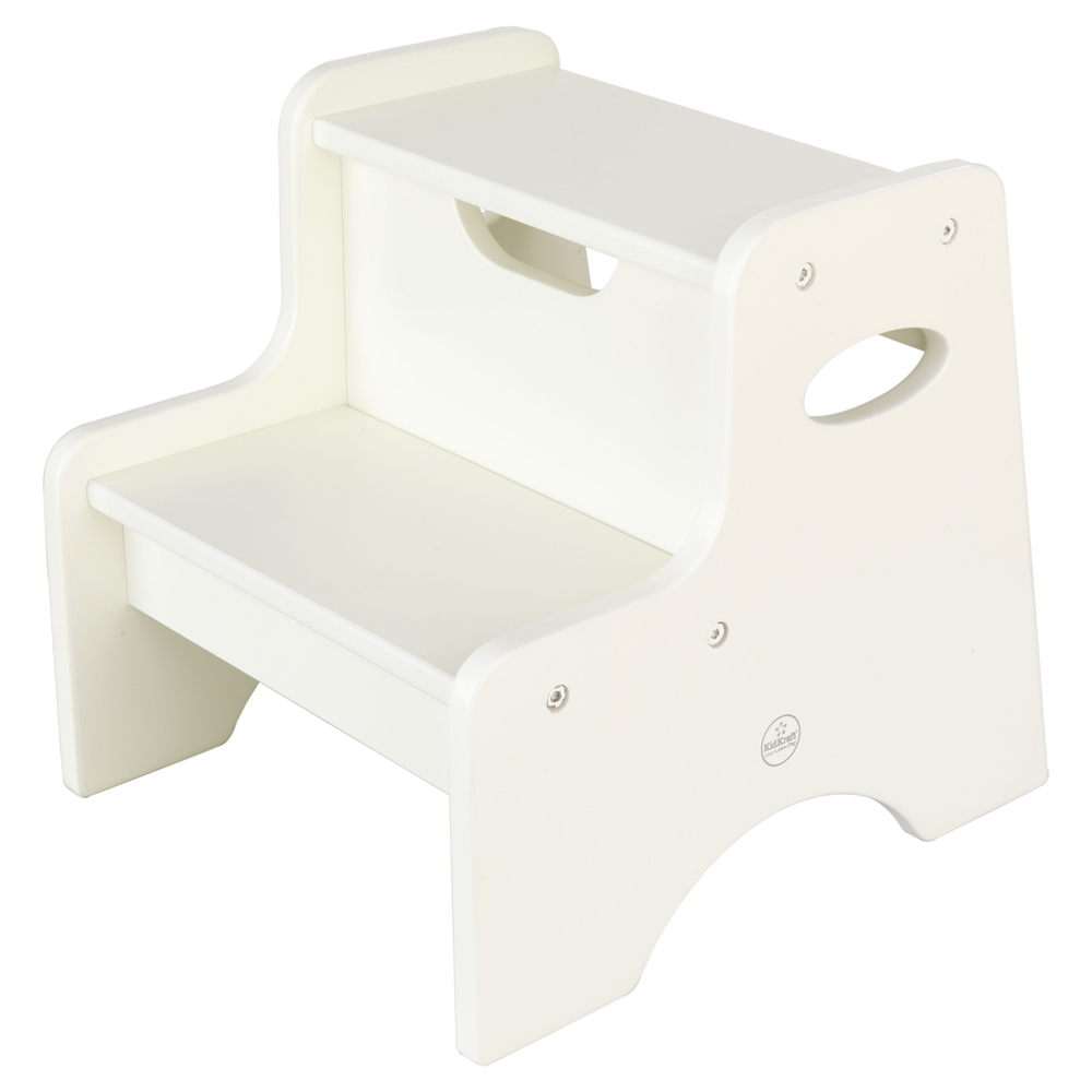 Two Step Stool White