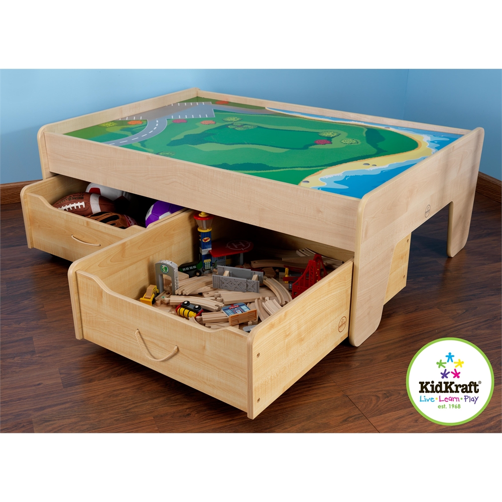 Train Trundle Drawer Natural