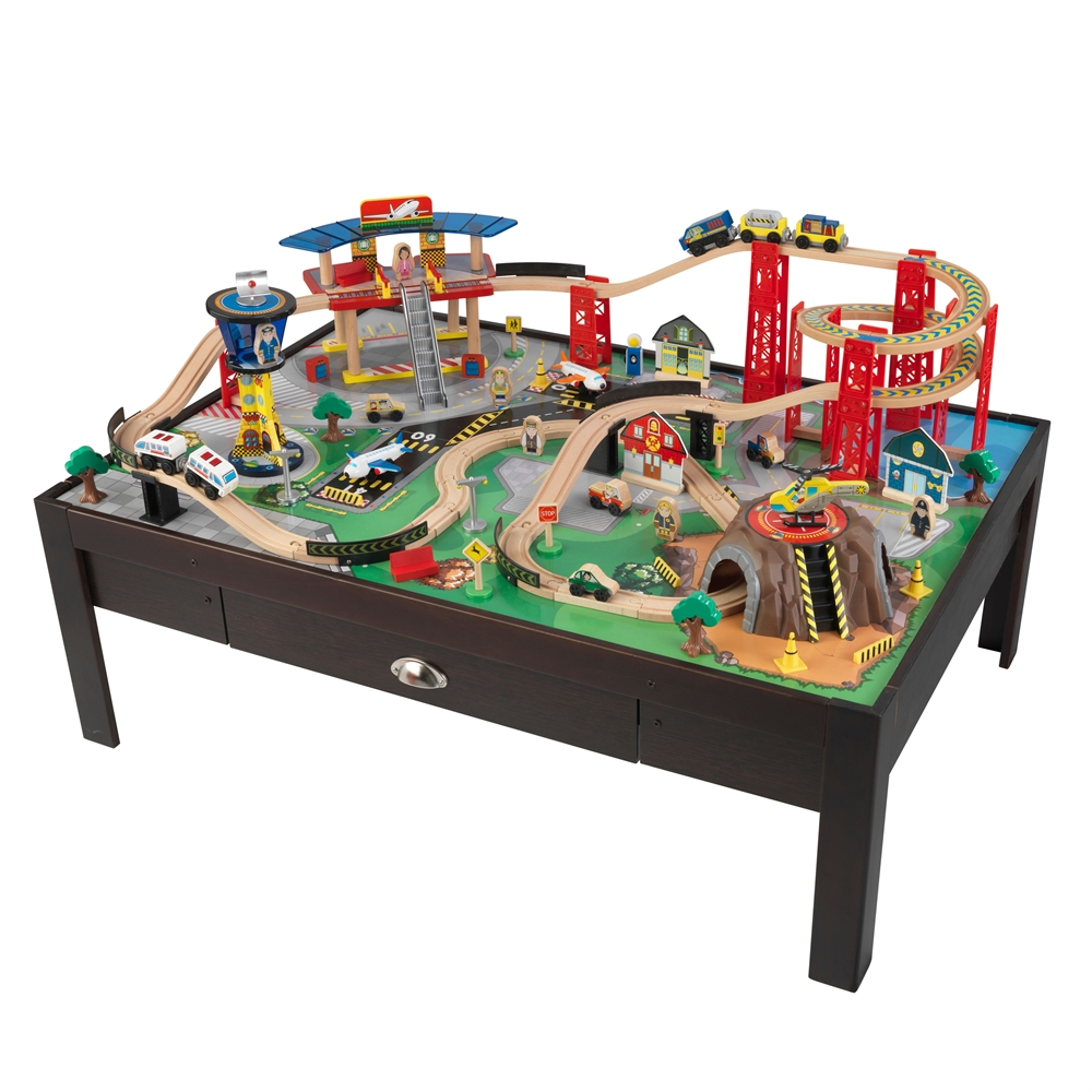 Kidkraft Super Highway Train Set And Table Airport Express Train Set and Table