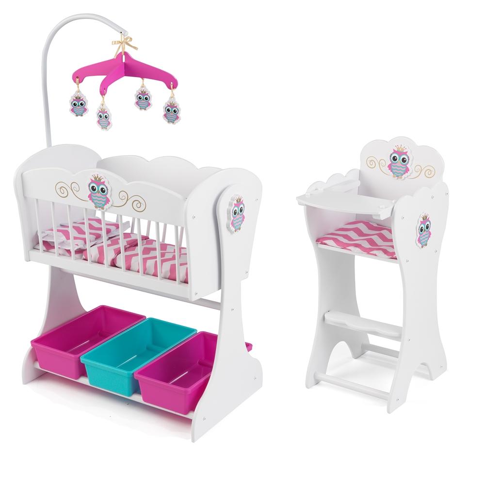 kidkraft lil owl doll furniture set