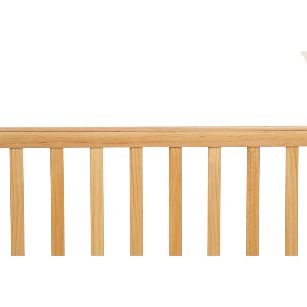 Compact Non-folding Wooden Window Crib, Natural. Picture 6