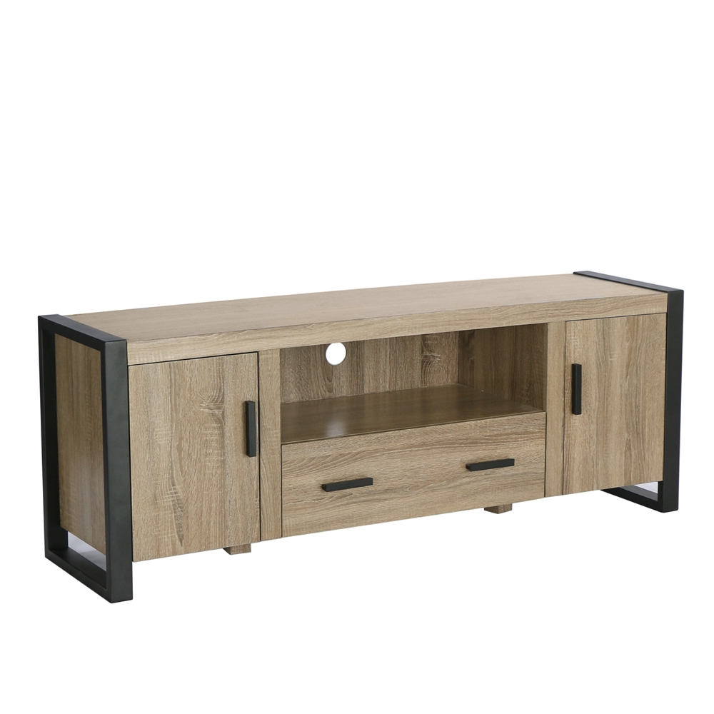 60 driftwood wood tv stand console. Black Bedroom Furniture Sets. Home Design Ideas