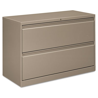 Flagship Two-Drawer Lateral File, 30w x 18d x 28h, Light Gray. Picture 1